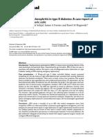 Emphysematous pyelonephritis in type II diabetes A case report of