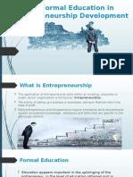 Role of Formal Education in Entrepreneurship Development