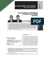 Verosimilitud, Probabilidad y Prueba en la Tutela Cautelar - Gaceta Civil & Procesal Civil