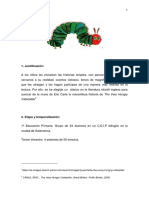 Unidad Didáctica - The Very Hungry Caterpillar