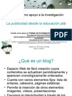 Edublog como apoyo a la investigación