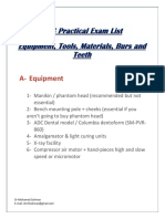 ADC Practical Exam List