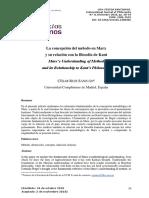 César Ruiz SanJuan La concepción de método en Marx y su relación con la filosofía de Kant.pdf