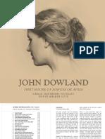 John Dowland First Booke of Songes or Ayres Grace Davidson Soprano David Miller Lute [Signum Classics SIGCD 553] 2018 [24/96]