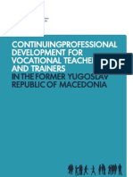 CONTINUING PROFESSIONAL DEVELOPMENT FOR  VOCATIONAL TEACHERS    AND TRAINERS IN THE FORMER  YUGOSLAV REPUBLIC OF MACEDONIA