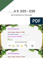 am pm messages