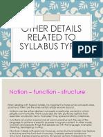 Syllabus - Explanation