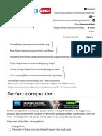 Perfect competition _ Economics Help