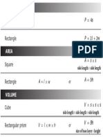 Grade 5 Math - STAAR Formula Chart with annotations