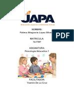 TAREA 03 PSICOLOGIA EDUCATIVA I