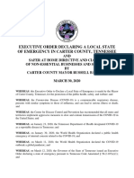 Local State of Emergecy Declaration