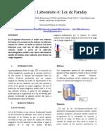 Informe de Laboratorio Ley de Faraday