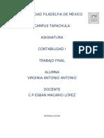 UNIVERSIDAD FILADELFIA DE MÉXICO CONTABILIDAD