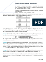 2. Random Variables and its Probability Distributions