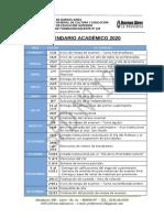 CALENDARIO 2020 - ISFD 129