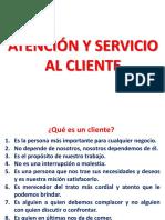 Atención y servicio al cliente curso virtual