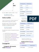 El verbo auxiliar avere en Italiano (haber o tener)
