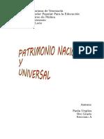 patrimonio nacional y universal
