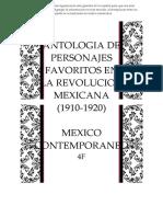 Antologia de 4 personajes revolucion mexicana