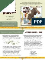 Jefferson Measures a Moose Teacher Tip Card