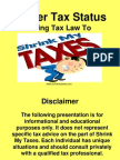 Trader Tax Status with Steve Ribble (ShrinkMyTaxes.com) Presentation Slides