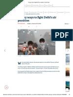 10 easy ways to fight Delhi air pollution