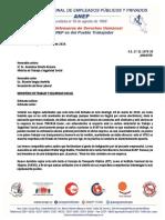 ANEP denuncia conductas anti-sindicales y anti-obreras por parte de la autobusera TRACASA