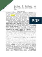 Formato Escritura de Prestamo con Garantia Hipotecaria de Cooperativa de Ahorro y Credito.docx