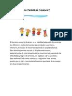 DOMINIO CORPORAL DINAMICO proyecto psicomotricidad alIXON