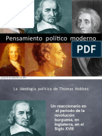 Pensamiento politico de filosofos conocidos