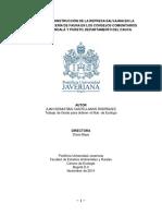 EFECTO DE LA REPRESA SALVAJINA EN LA ACTIVIDAD DE CACERIA DE FAUNA EN LOS CONSEJOS COMUNITARIOS DE LA TOMA (1)