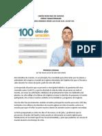 100 DÍAS DE ORACIÓN DEL 28 DE MARZO AL 05 DE JULIO