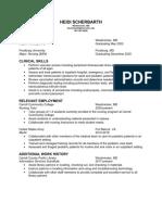 heidi scherbarth nursing resume