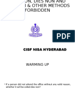 cisf rules 54 to 57 revision  dies non and petition (2)