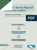 Lição XV -  Norma Negocial e Doutrina Jurídica (Esquematizada) (1)