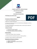 PROGRAMAS DAS DICIPLINAS SELEÇÃO DE MONITORIA 20181 (1)