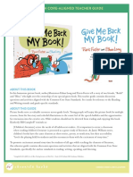 Give Me Back My Book Teacher Guide
