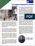 CANASTAS FAMILIARES EN TIEMPO DE EMERGENCIA. ¡ATENTOS! - ROBERTO NORIEGA