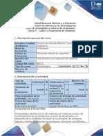 Guía de actividades y rúbrica de evaluación Tarea 3 - Taller la ingeniería de sistemas (1).pdf