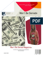 Won't Be Denied Magazine Aug 2008 Issue
