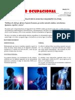 Boletin Nº6 Que son los Trastornos Musculoesqueleticos