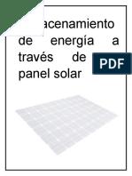Almacenamiento de energía a través de un panel solar
