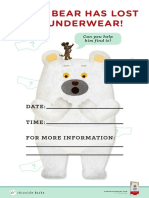 Polar Bear's Underwear Activity Kit