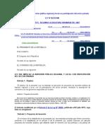 Ley 29230 - Ley Que Impulsa La Inversión Pública Regional y Local Con Participación Del Sector Privado