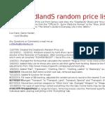 DL - Price List