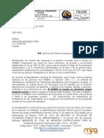 respuesta derecho de peticion 042