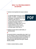 LA EDAD MEDIA Y EL PRENACIMIENTO EN ESPAÑA