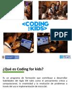 Presentación Coding for Kids Doc