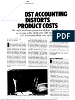 Cost Accounting Distorts Product Costs