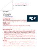 COVID19 REVISION - CIV 300 Syllabus Spring 2020